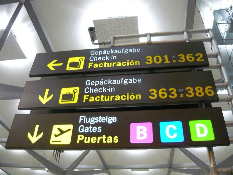 Señalética Aeropuertos