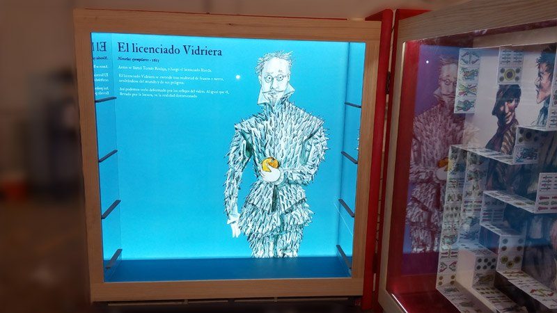 Exposición Cervantes – Armarios retroiluminados